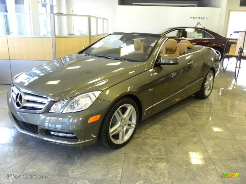 Olivine gray metallic 2012 mercedes benz e 350 cabriolet for 2012 mercedes benz e350 convertible