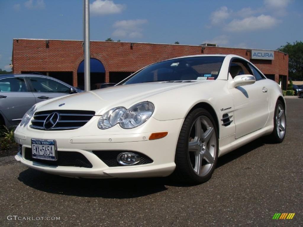 Mercedes Benz 2007 mercedes benz sl55 amg : 2007 designo Mystic White Mercedes-Benz SL 55 AMG Roadster ...