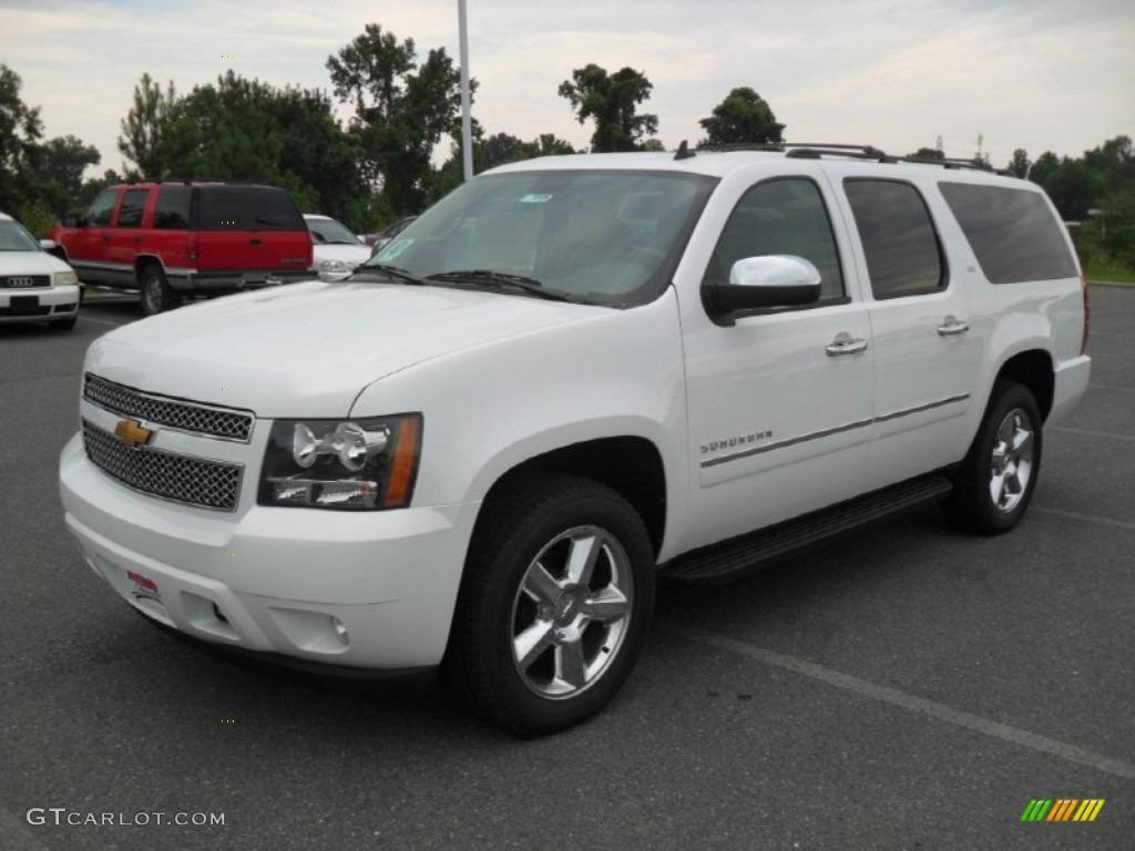 2012 Summit White Chevrolet Suburban Ltz 4x4 53982345