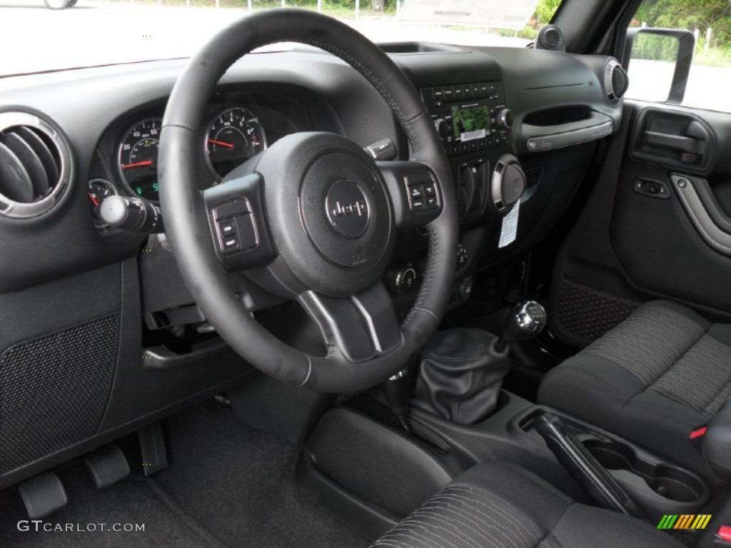 Black Interior 2012 Jeep Wrangler Sport S 4x4 Photo 54034817