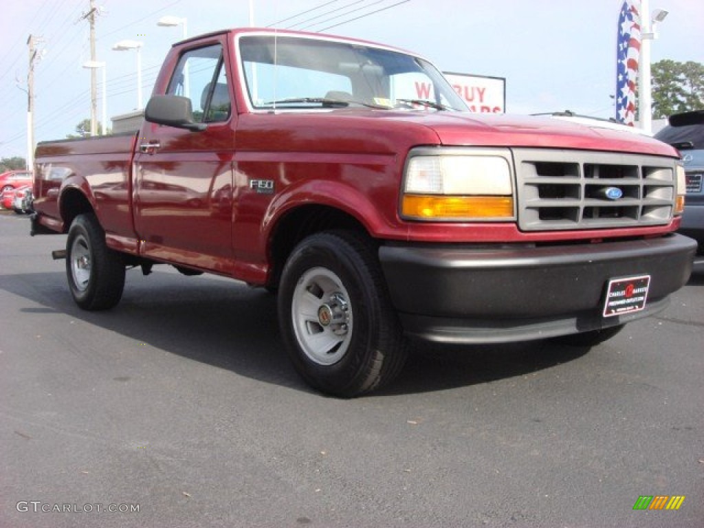 1994 Electric Red Metallic Ford F150 Xl Regular Cab 53983316 Photo 1970 Truck 4x4