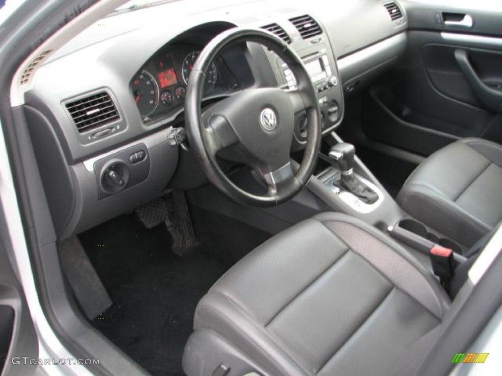 Anthracite Black Interior 2008 Volkswagen Jetta Wolfsburg