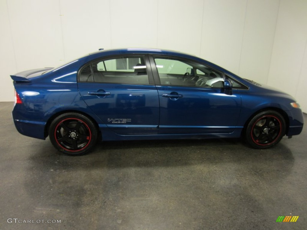 Captivating 2009 Civic Si Sedan   Dyno Blue Pearl / Black Photo #13