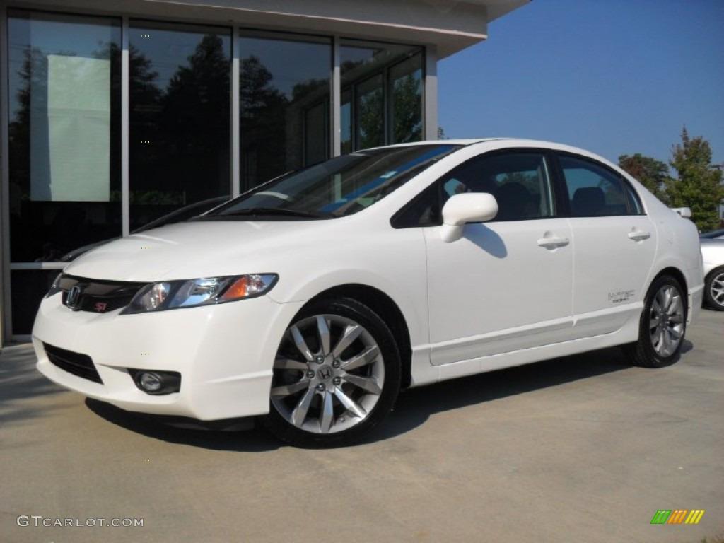2010 taffeta white honda civic si sedan 53982129 for Honda civic si white