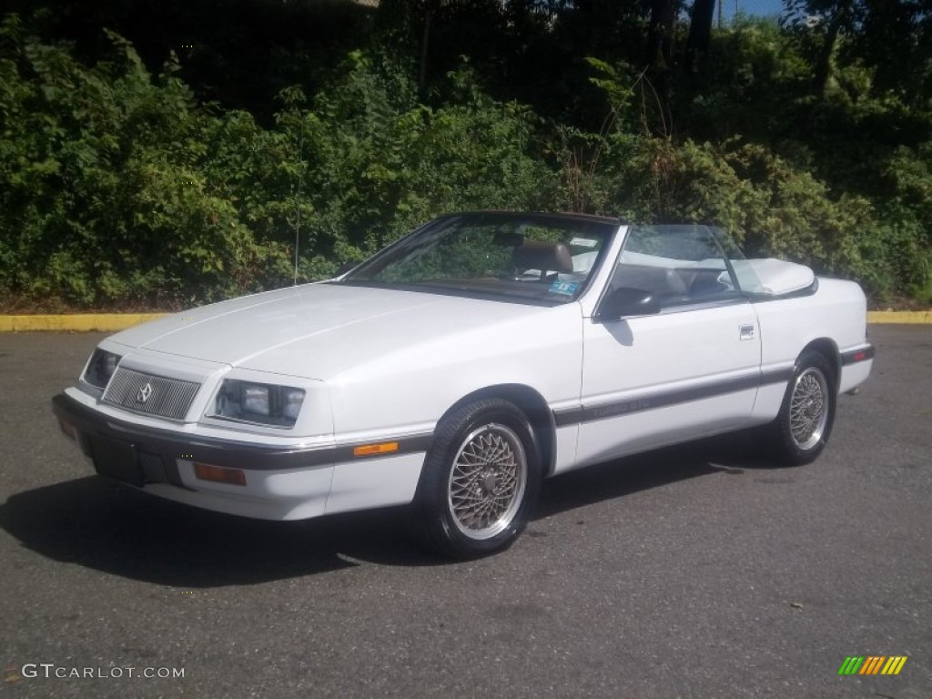 Bright White Chrysler Lebaron Gtc Turbo Convertible