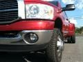 2008 Inferno Red Crystal Pearl Dodge Ram 3500 Big Horn Edition Quad Cab 4x4 Dually  photo #2
