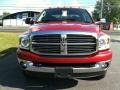 2008 Inferno Red Crystal Pearl Dodge Ram 3500 Big Horn Edition Quad Cab 4x4 Dually  photo #3