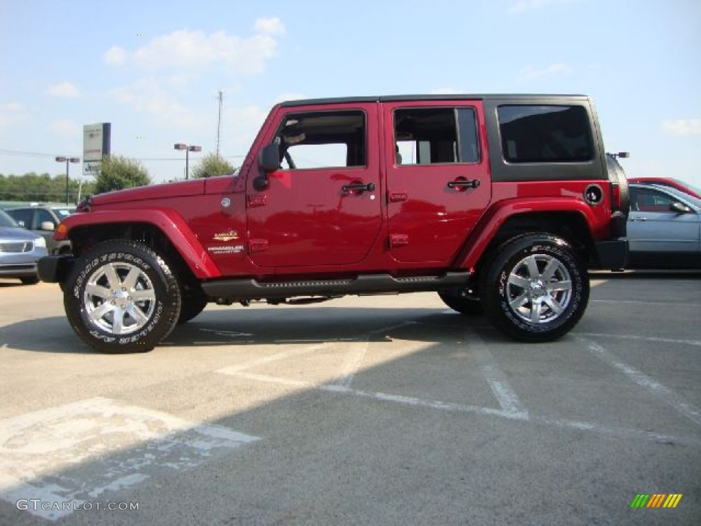Deep Cherry Red Crystal Pearl 2012 Jeep Wrangler Unlimited Sahara 4x4 Exterior Photo 54111762