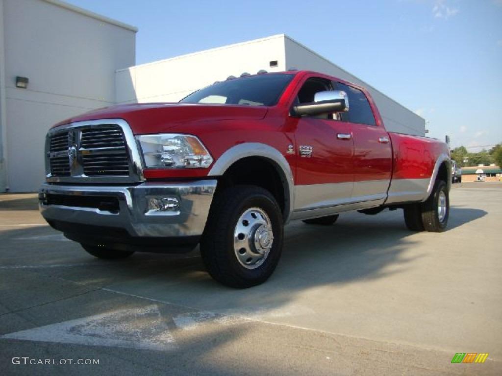 2012 flame red dodge ram 3500 hd laramie crew cab 4x4 dually 53981963 car. Black Bedroom Furniture Sets. Home Design Ideas