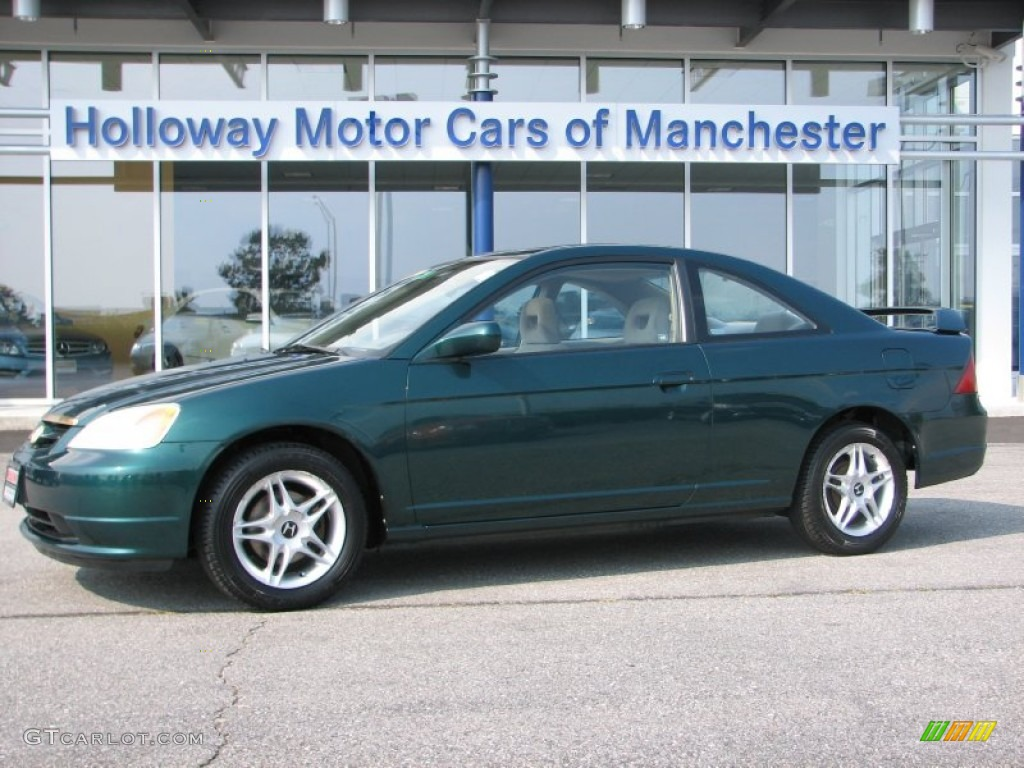 Clover Green Honda Civic. Honda Civic EX Coupe