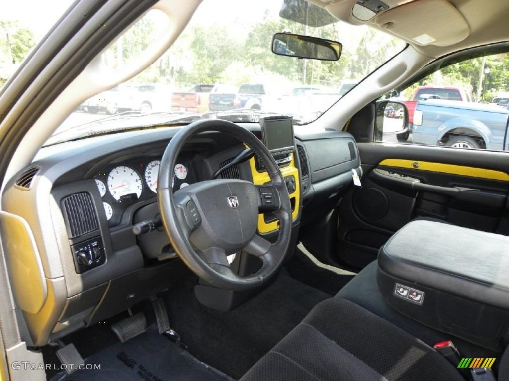 Dark Slate Gray Interior 2005 Dodge Ram 1500 SLT Rumble Bee Regular Cab  Photo #54118929 | GTCarLot.com