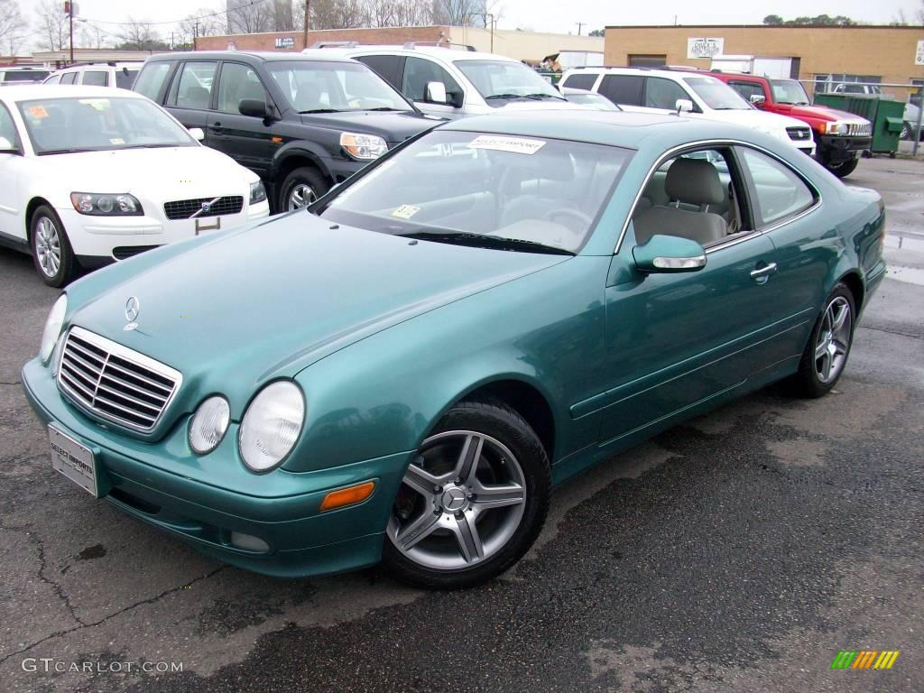 2002 Clk 320 Coupe Mineral Green Metallic Oyster Photo 1