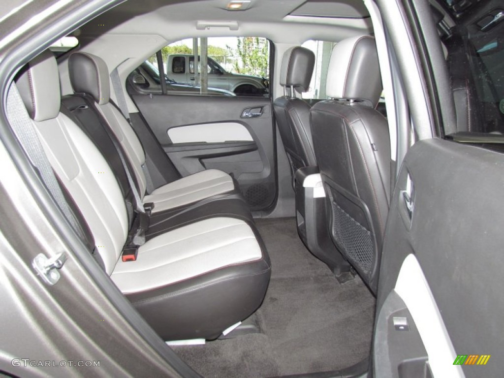 Jet Black Light Titanium Interior 2010 Chevrolet Equinox