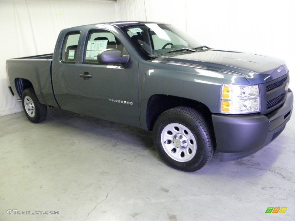 2012 Silverado 1500 Work Truck Extended Cab - Blue Granite Metallic / Dark Titanium photo #1