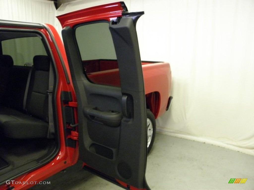 2012 Silverado 1500 LT Extended Cab - Victory Red / Ebony photo #11