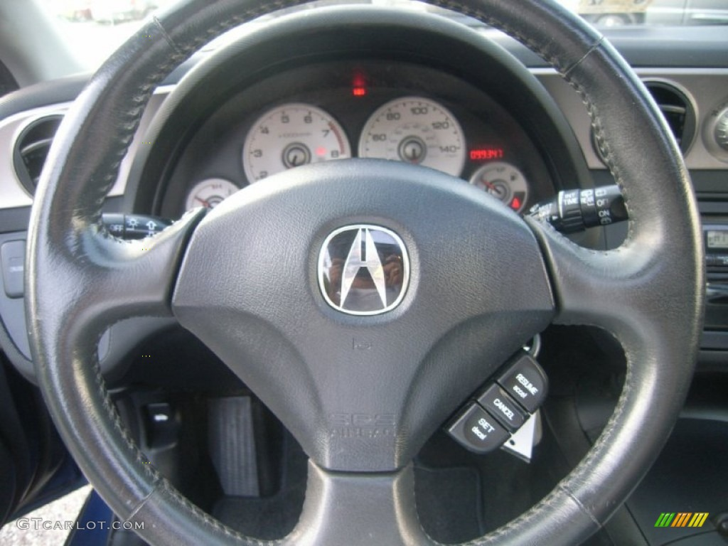 Acura RSX Sports Coupe Ebony Black Steering Wheel Photo - Acura rsx steering wheel cover