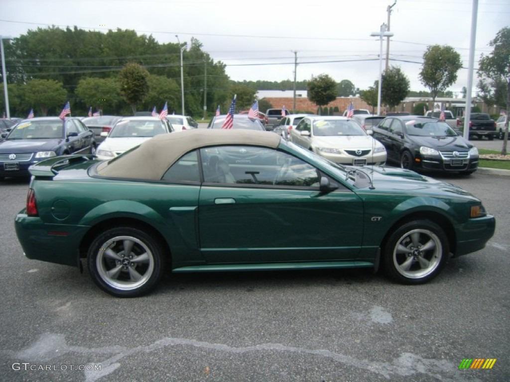 2001 Mustang Gt Convertible Electric Green Metallic Medium Parchment Photo 5