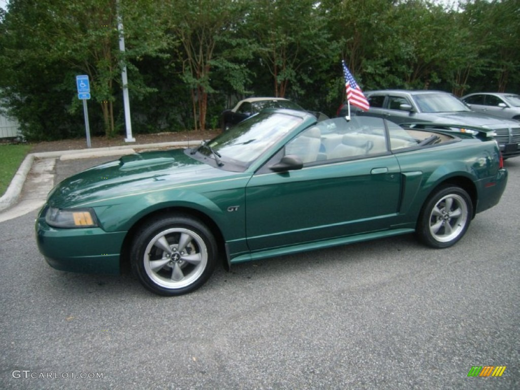 electric green metallic 2001 ford mustang gt convertible exterior photo 54143094. Black Bedroom Furniture Sets. Home Design Ideas