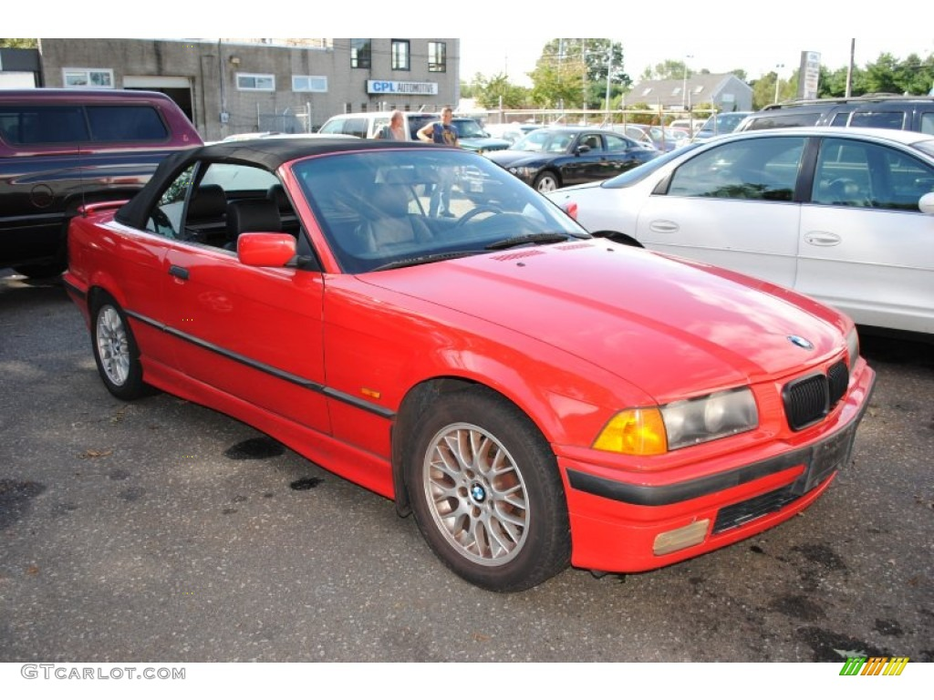 Bright Red 1998 Bmw 3 Series 323i Convertible Exterior
