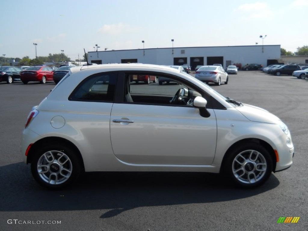Bianco Perla Pearl White 2012 Fiat 500 Pop Exterior