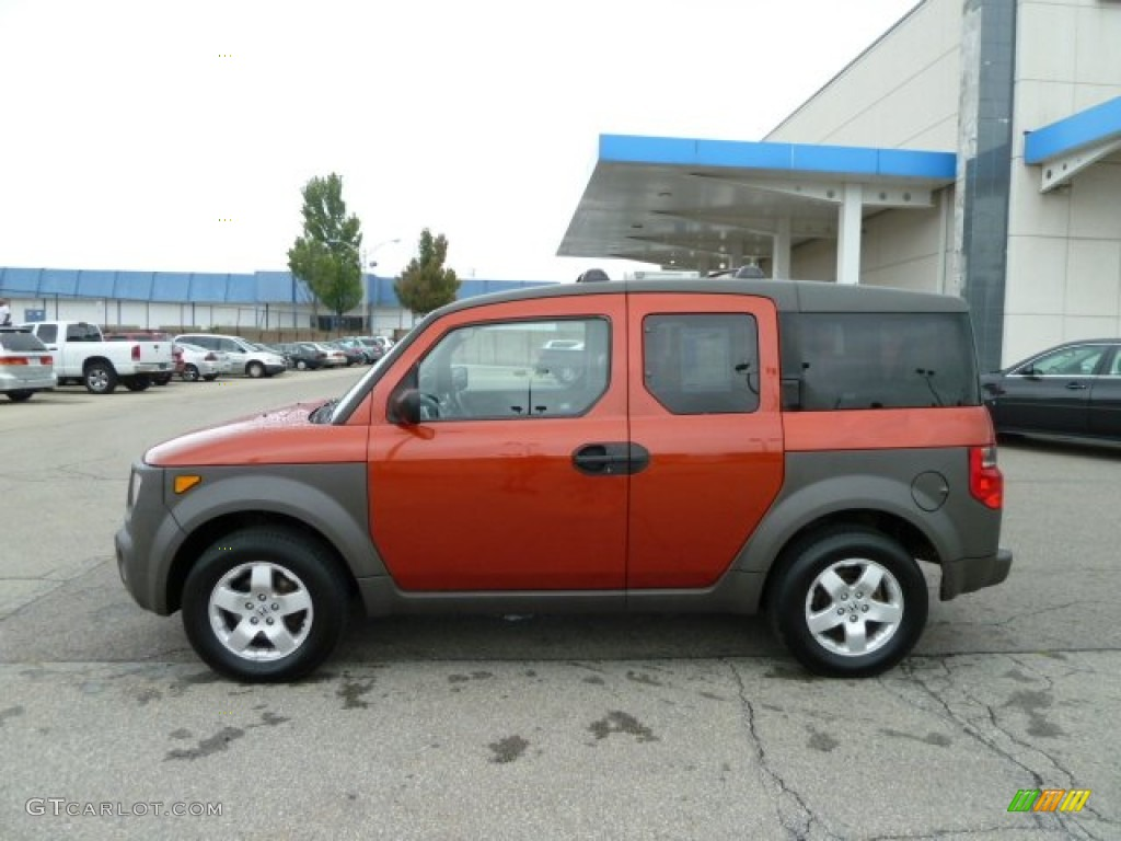 sunset orange pearl 2003 honda element ex exterior photo