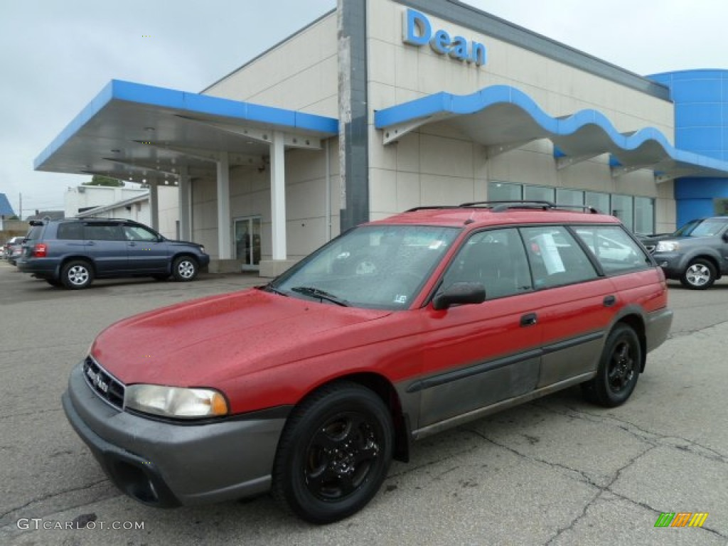 1999 legacy outback wagon rio red gray photo 1
