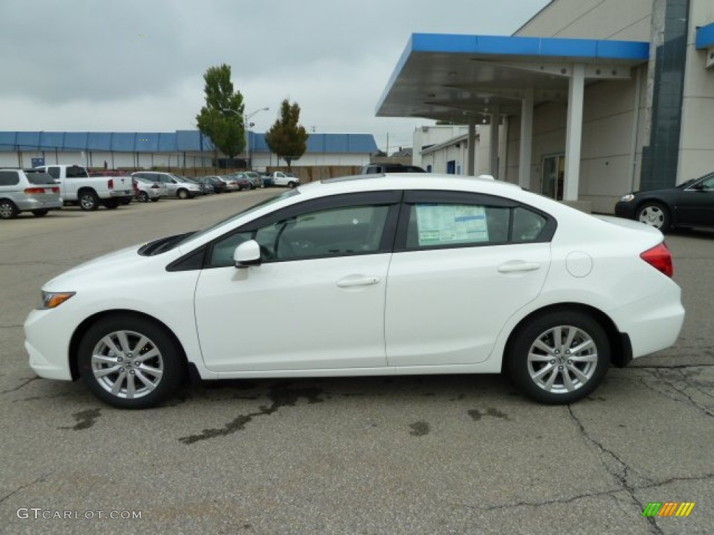 taffeta white 2012 honda civic ex l sedan exterior photo