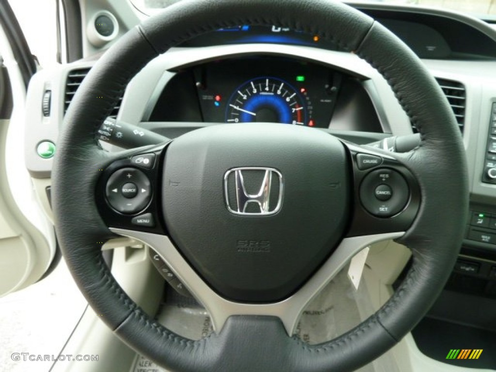 2012 honda civic ex l sedan stone steering wheel photo. Black Bedroom Furniture Sets. Home Design Ideas