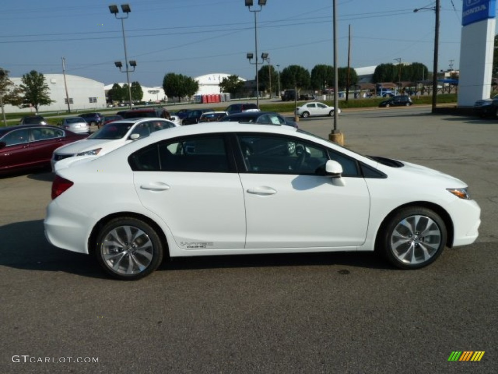 Taffeta White 2012 Honda Civic Si Sedan Exterior Photo 54157650