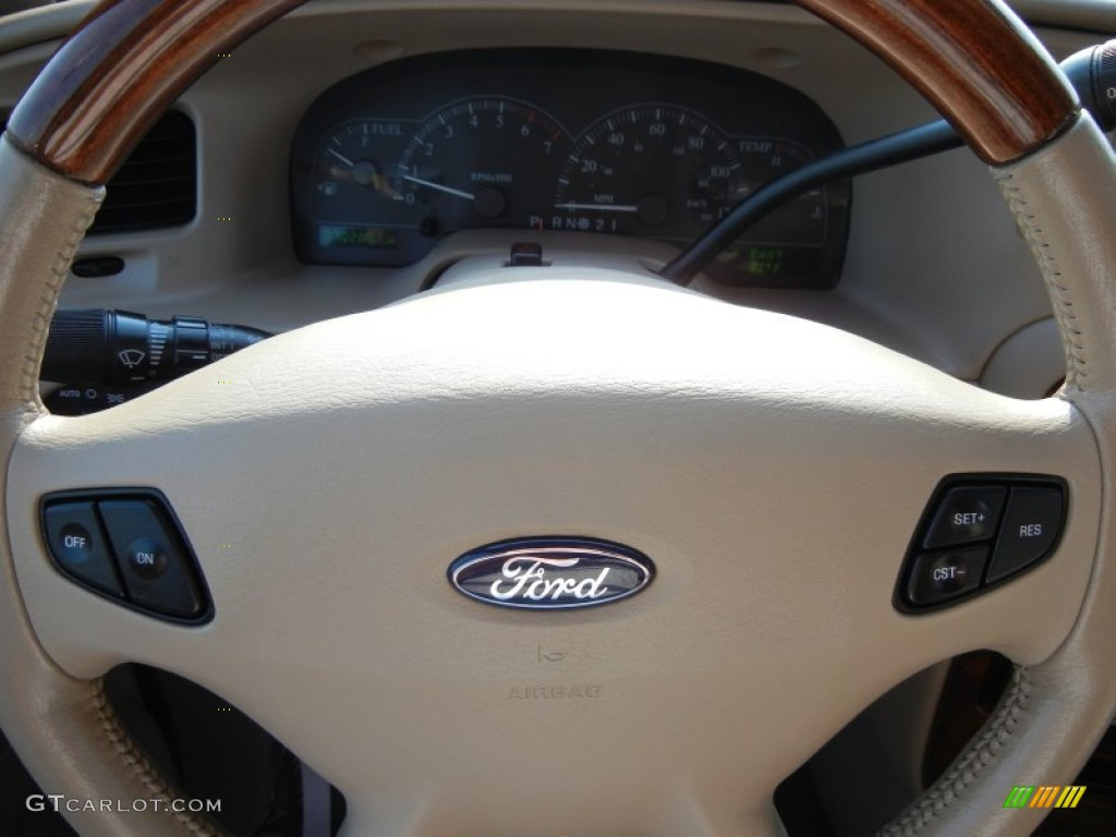 2003 Ford Windstar Limited Medium Parchment Steering Wheel