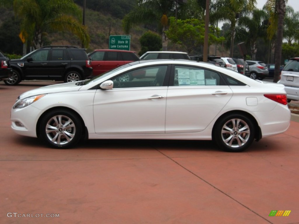 shimmering white 2012 hyundai sonata limited exterior photo 54178588. Black Bedroom Furniture Sets. Home Design Ideas