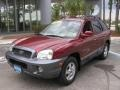 2004 Merlot Red Hyundai Santa Fe LX  photo #4