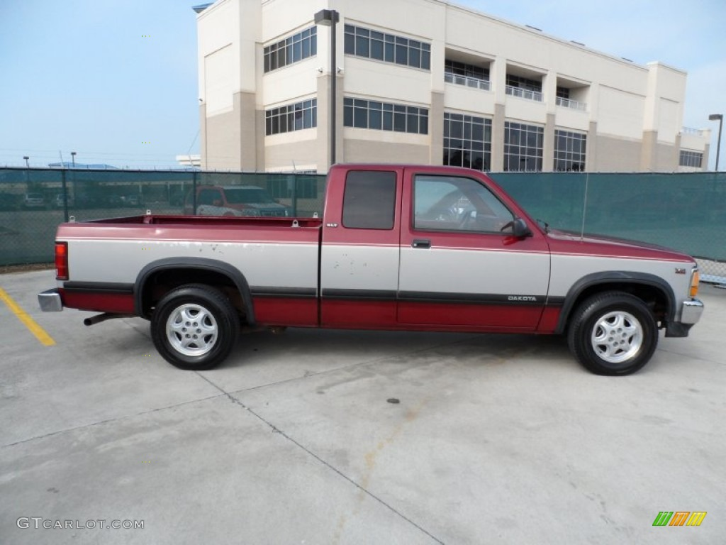 Claret red pearl metallic 1994 dodge dakota slt extended cab exterior photo 54204963 gtcarlot com