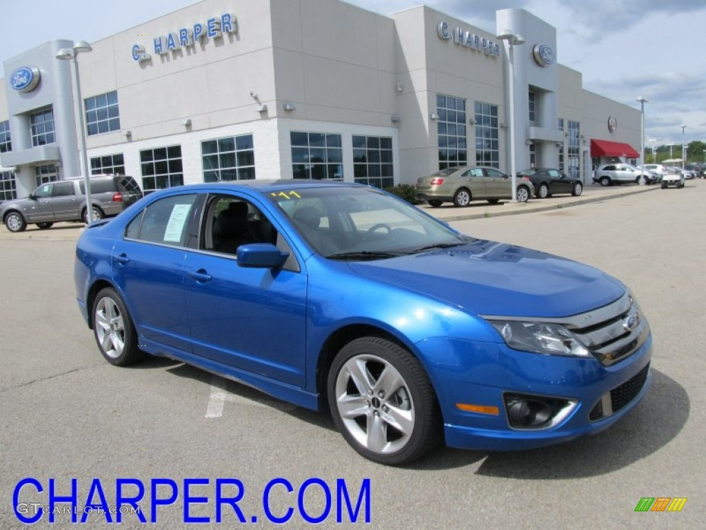 2011 Fusion Sport - Blue Flame Metallic / Sport Blue/Charcoal Black photo #1