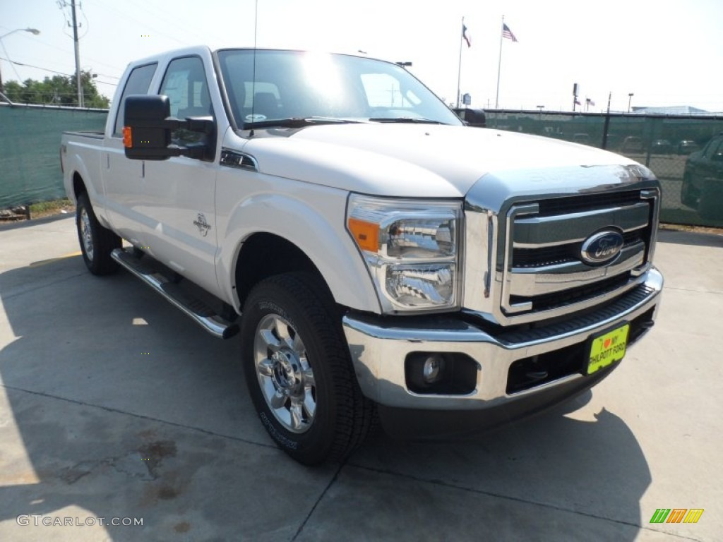 White Platinum Metallic Tri-Coat Ford F250 Super Duty