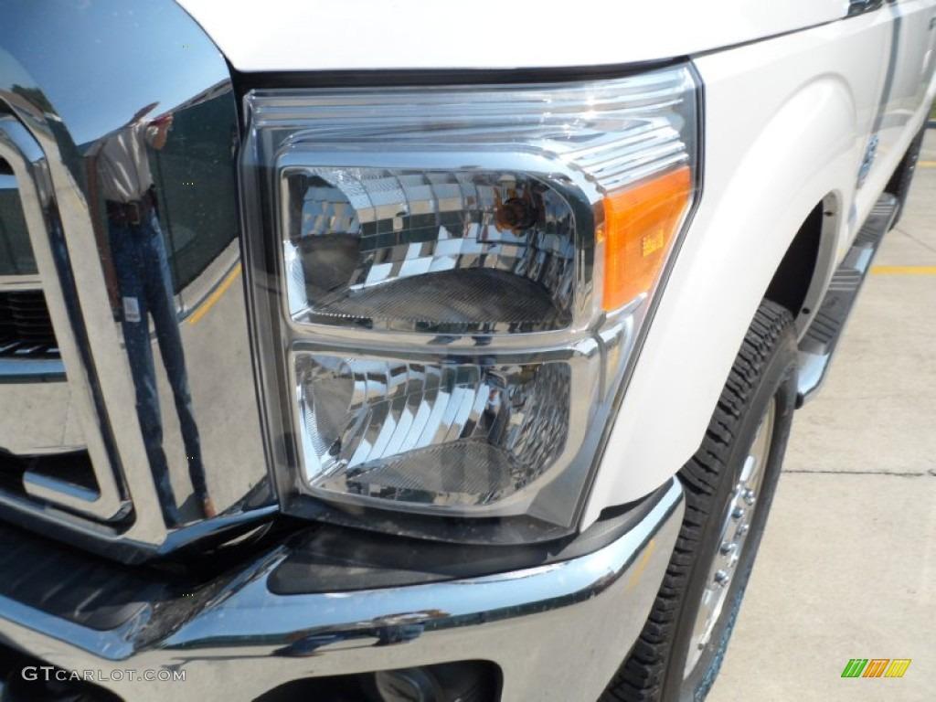 2012 F250 Super Duty Lariat Crew Cab 4x4 - White Platinum Metallic Tri-Coat / Adobe photo #9