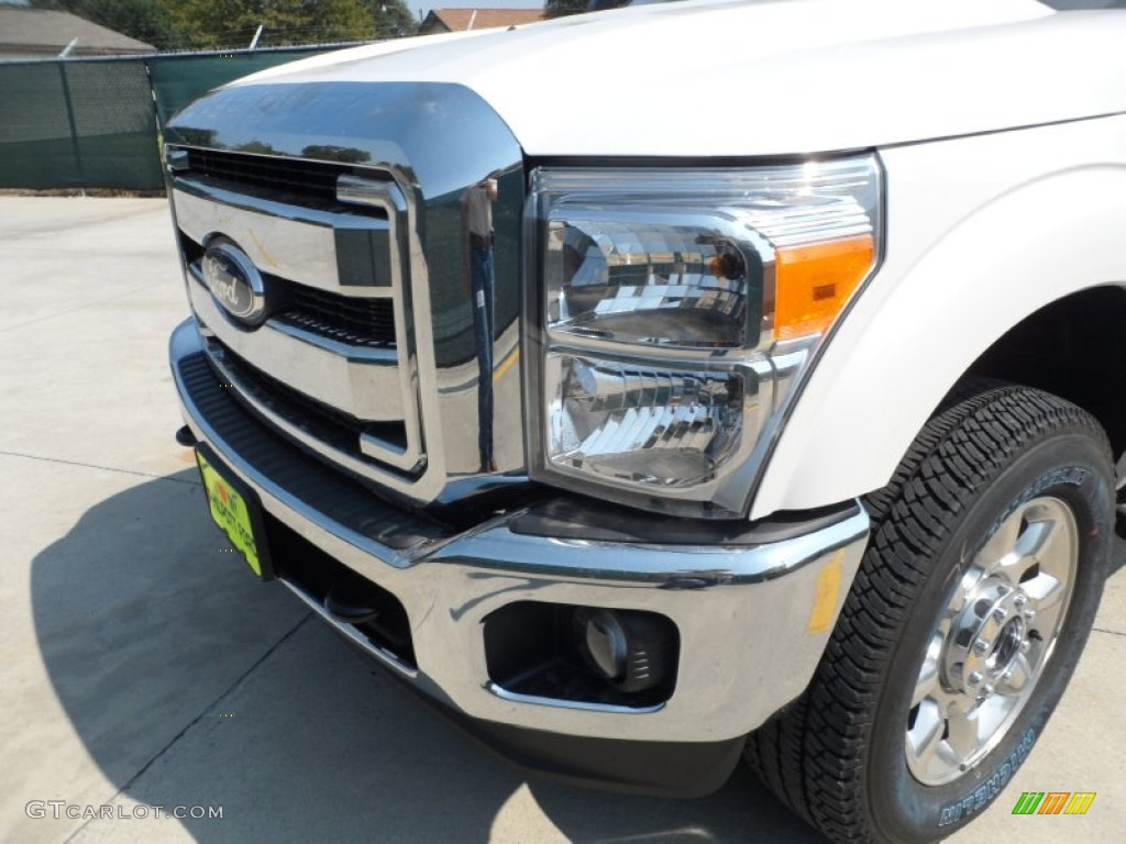 2012 F250 Super Duty Lariat Crew Cab 4x4 - White Platinum Metallic Tri-Coat / Adobe photo #10