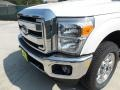2012 White Platinum Metallic Tri-Coat Ford F250 Super Duty Lariat Crew Cab 4x4  photo #10