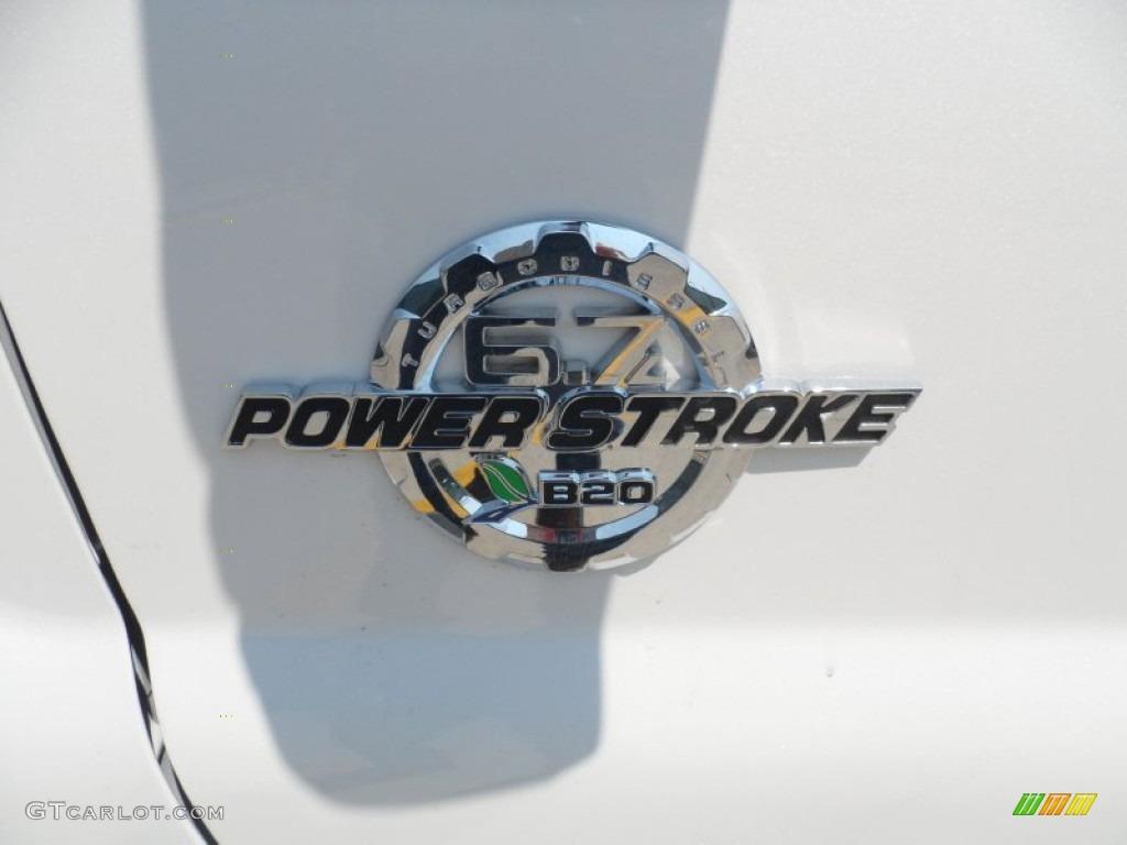 2012 F250 Super Duty Lariat Crew Cab 4x4 - White Platinum Metallic Tri-Coat / Adobe photo #13