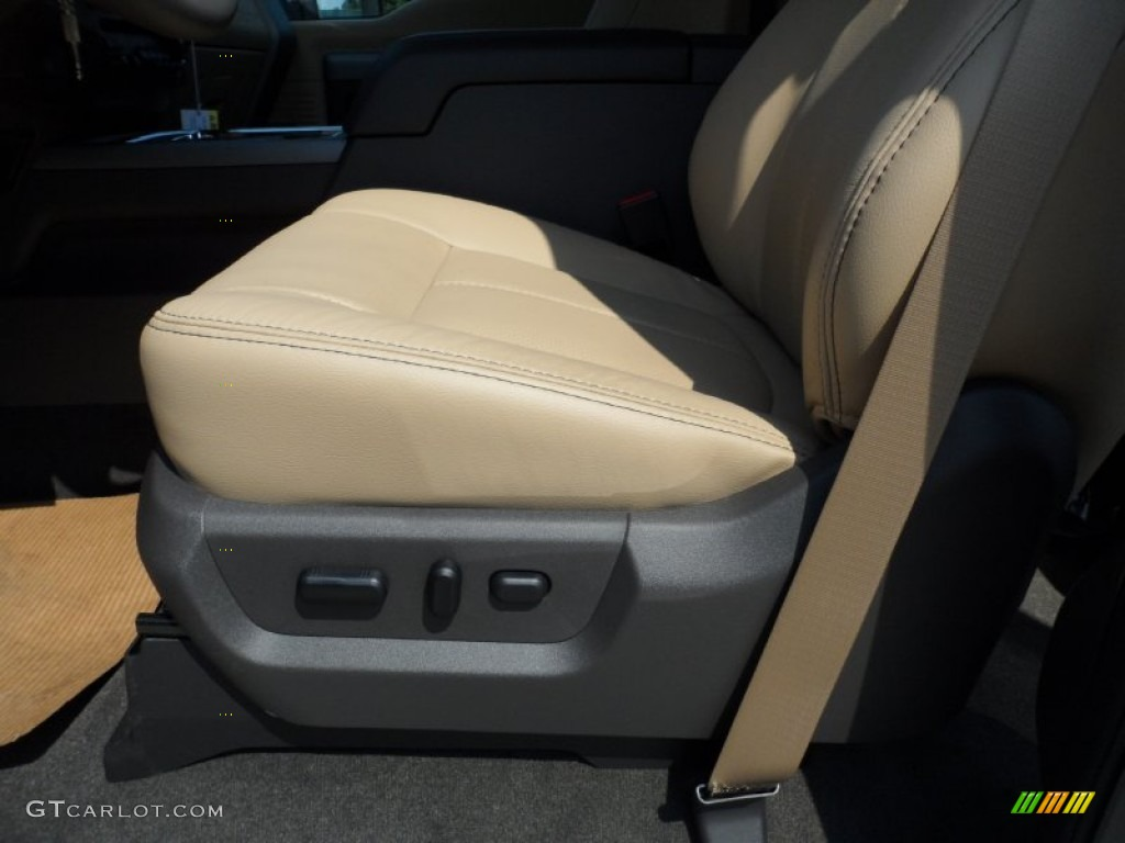 2012 F250 Super Duty Lariat Crew Cab 4x4 - White Platinum Metallic Tri-Coat / Adobe photo #28