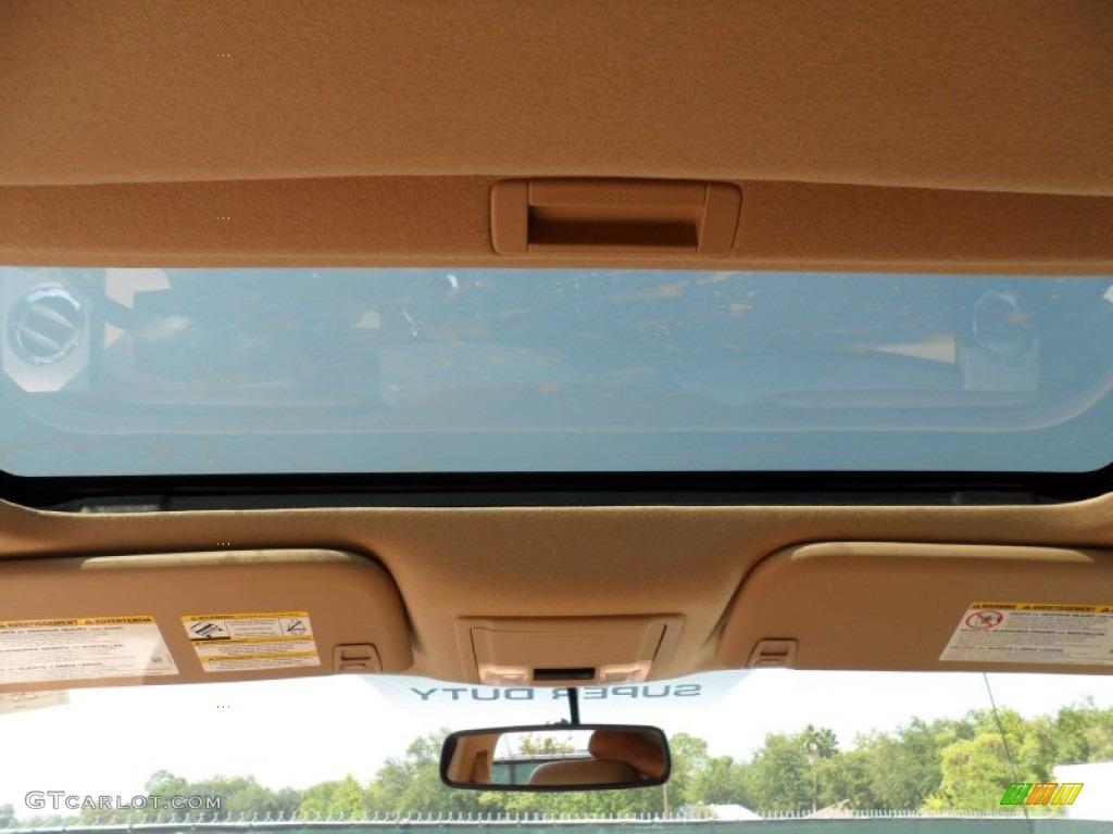2012 F250 Super Duty Lariat Crew Cab 4x4 - White Platinum Metallic Tri-Coat / Adobe photo #29