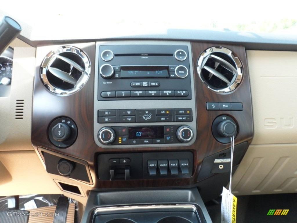 2012 F250 Super Duty Lariat Crew Cab 4x4 - White Platinum Metallic Tri-Coat / Adobe photo #31