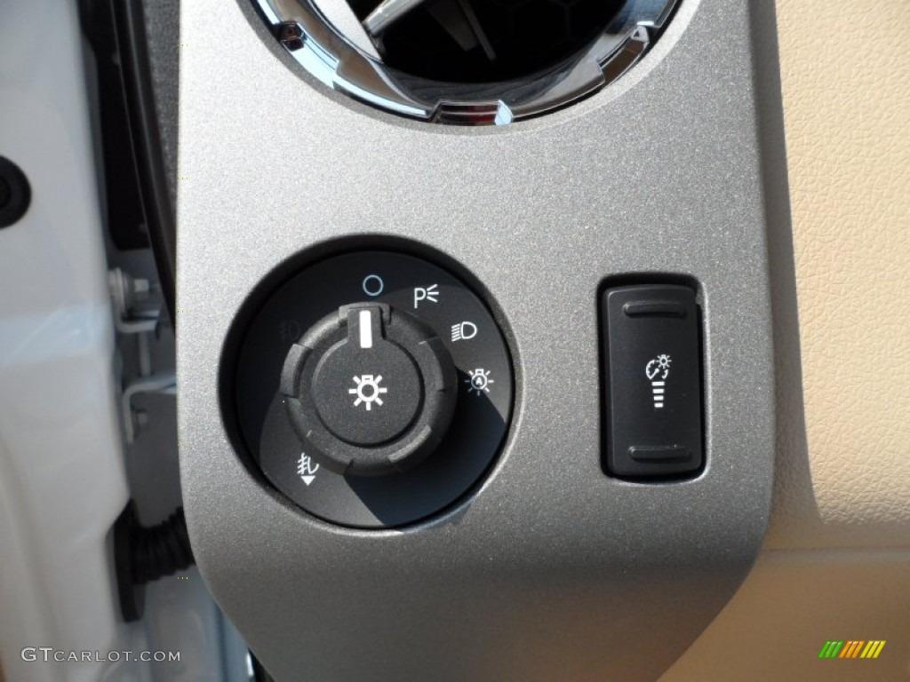 2012 F250 Super Duty Lariat Crew Cab 4x4 - White Platinum Metallic Tri-Coat / Adobe photo #38