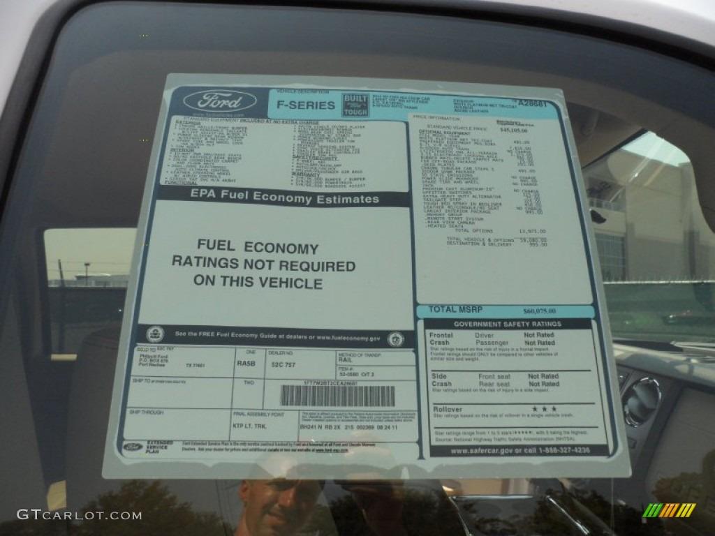 2012 F250 Super Duty Lariat Crew Cab 4x4 - White Platinum Metallic Tri-Coat / Adobe photo #40