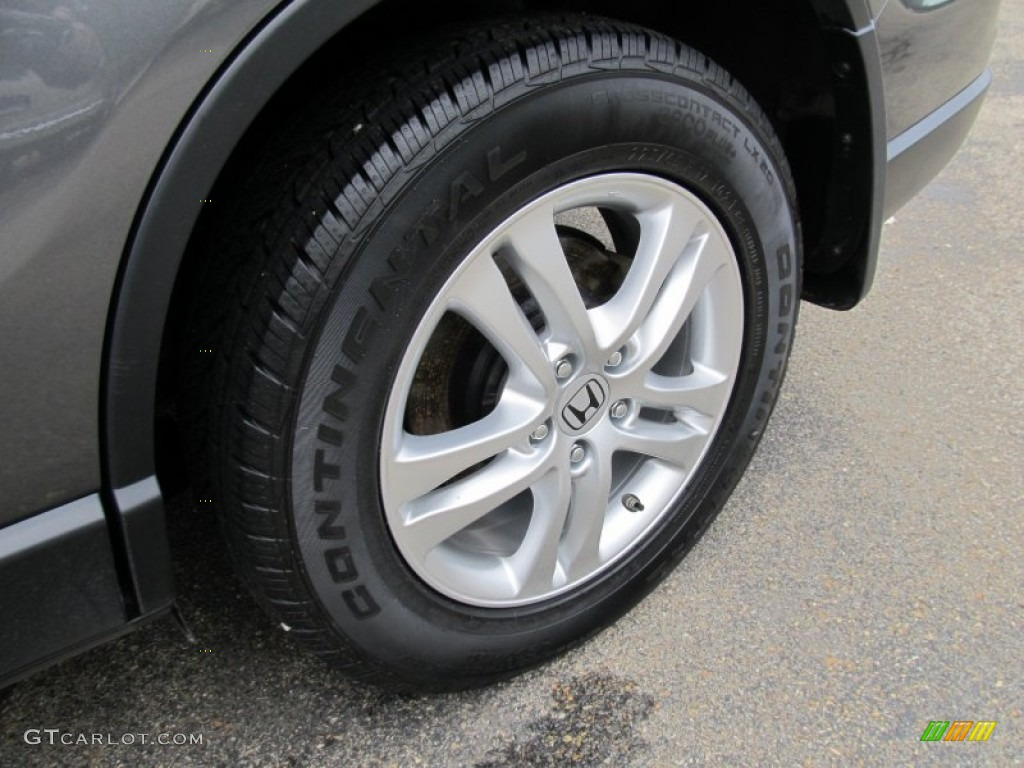2011 CR-V EX 4WD - Polished Metal Metallic / Gray photo #9
