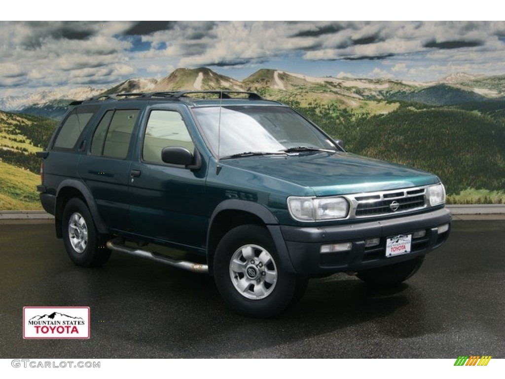 1997 cobalt green pearl nissan pathfinder se 4x4 54202275. Black Bedroom Furniture Sets. Home Design Ideas