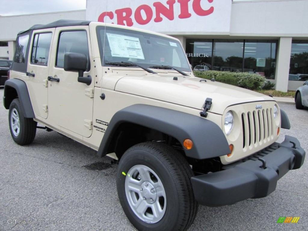 2012 sahara tan jeep wrangler unlimited sport 4x4 #54203891