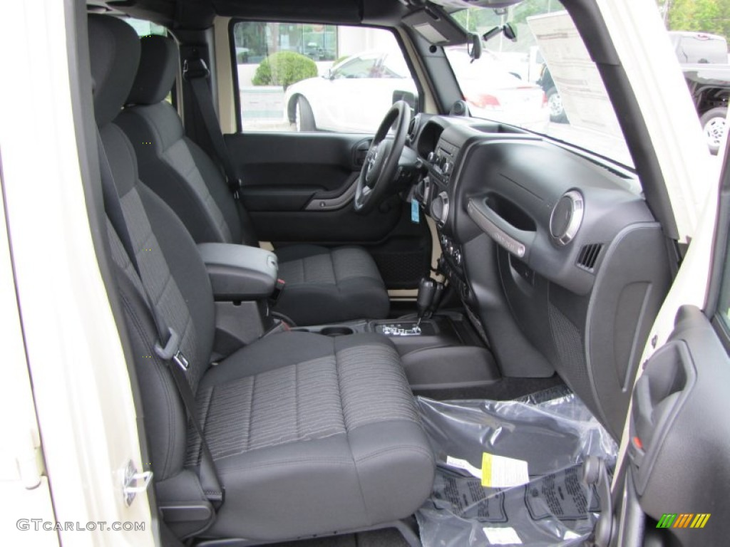 Black Interior 2012 Jeep Wrangler Unlimited Sport 4x4 Photo 54216582