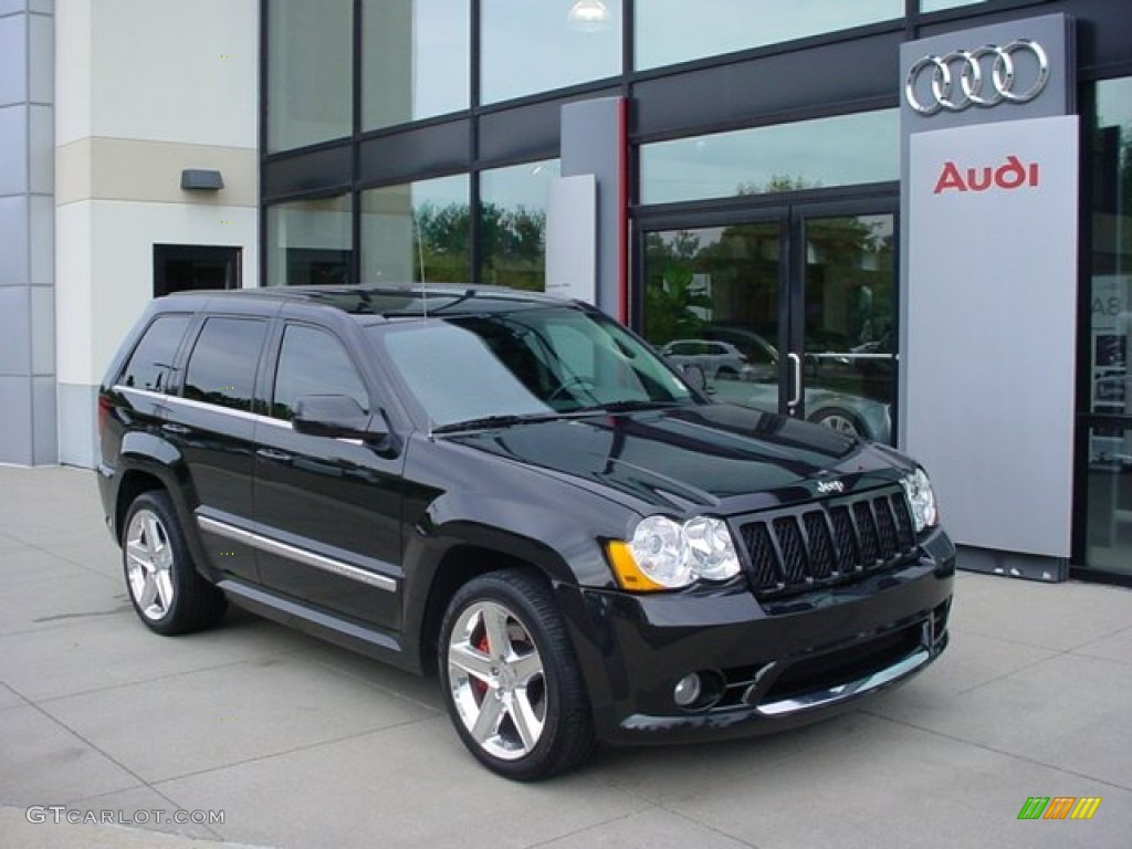 Perfect 2010 Grand Cherokee SRT8 4x4   Brilliant Black Crystal Pearl / Dark Slate  Gray Photo #