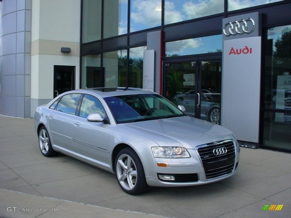 2008 ice silver metallic audi a8 l 4 2 quattro 54230371 car color galleries. Black Bedroom Furniture Sets. Home Design Ideas